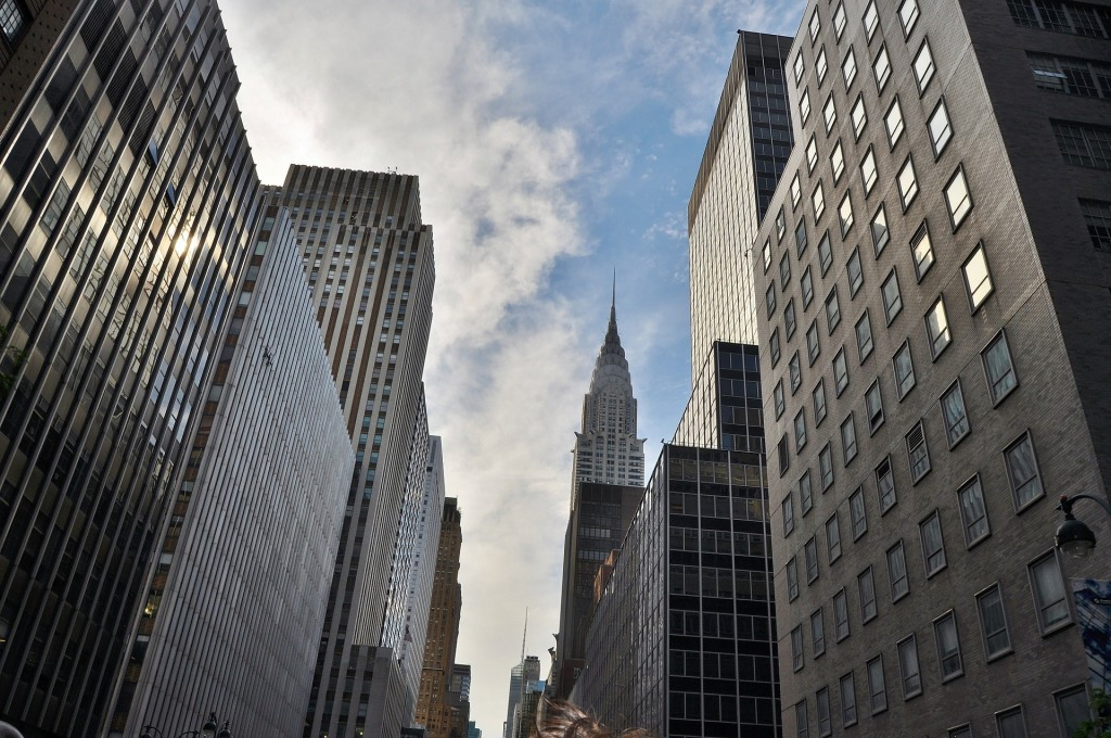 The Chrysler Building definitely sticks out on the Manhattan streets!